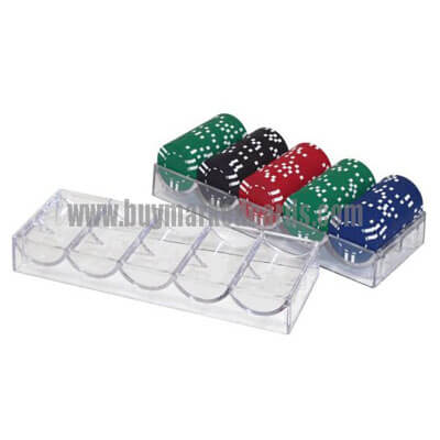 marked cards, chips, poker chips, chips and cards, 100 chip acrylic chip tray