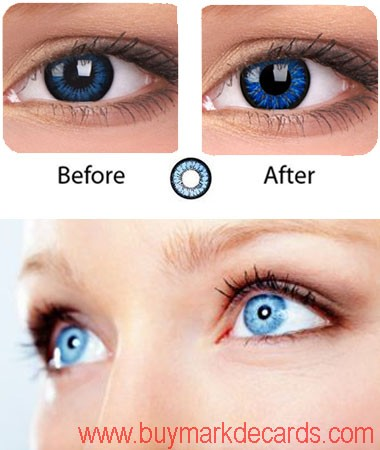 Blue Eyes Infrared Contact Lenses