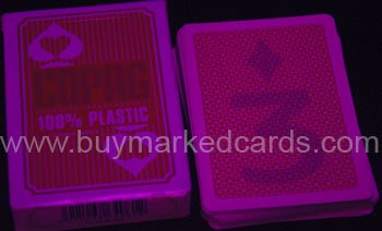 100% plastic marked cards
