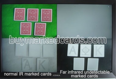 Far infrared Poker camera with IR marked cards