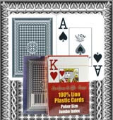 Lion Playing cards marked cards