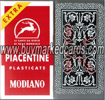 Modiano piacentine 81/25 marked cards