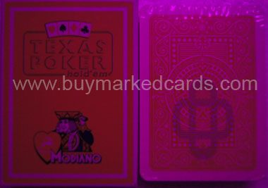 modiano texas hold'em marked cards