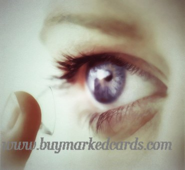 IR Marked Cards Contact Lenses