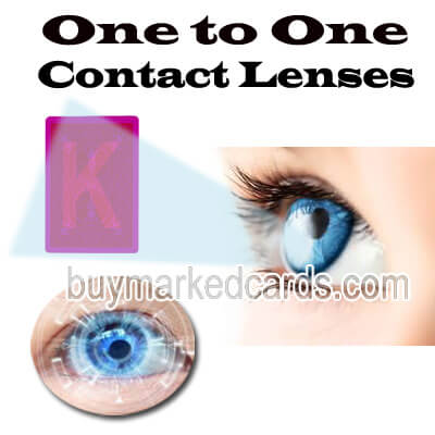 luminous marked cards, contact lenses marked cards, one to one contact lenses
