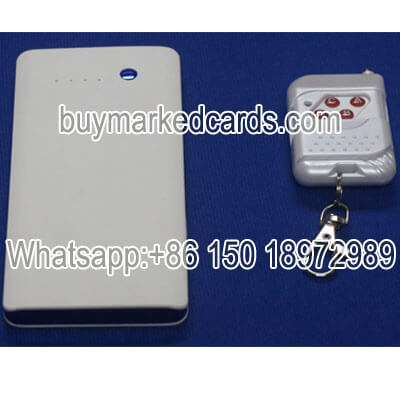 Power bank playing cards scanner