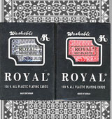 Infrared ink Royal 100 plastic cards